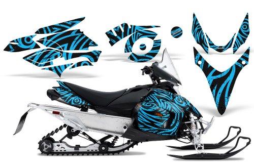 CreatorX Graphics Kit Decals Stickers for Yamaha Phazer Rtx Gt Mtx Snowmobile Sled TribalZ Blue Ice