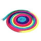 Gimnasia Rainbow Cuerda , Arco Iris Color Gimnasia Rítmica Cuerda Gimnasia Rítmica Gimnasia Cuerda Deportiva Saltar Ejercicio Cuerda Nylon Competencia Artes Entrenamiento Cuerda