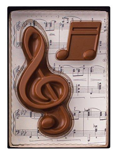 Weibler Confiserie Geschenkpackung Musik - Notenschlüssel 40 g Edel Vollmilch Schokolade