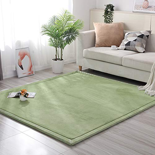 %41 OFF! Thicken Tatami Kids Play Mat, Flannel Soft Baby Crawling Carpet No-Slip Children Sleeping R...