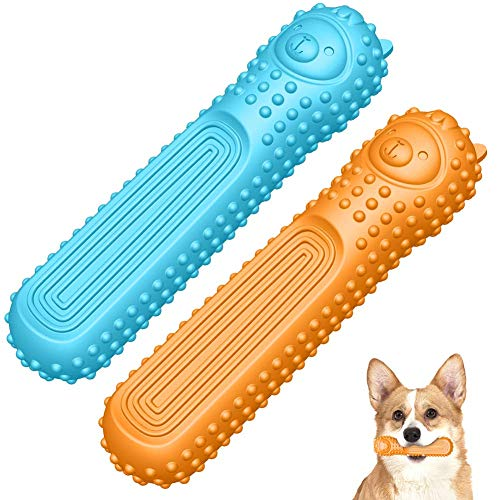 Dog Toys Puppy Chew Toys Teething Dog Bones Durable Tough Interactive Toys for Small and Medium Dogs Best Dog Birthday Gifts  2 Pack