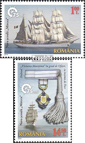 Prophila Collection Rumänien 6816-6817 (kompl.Ausg.) 2014 Segelschulschiff (Briefmarken für Sammler) Seefahrt