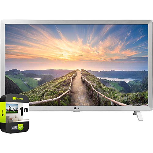 LG 24LM520D-WU 24 inch HDTV 2019 Model Bundle with 1 Year Extended Protection Plan