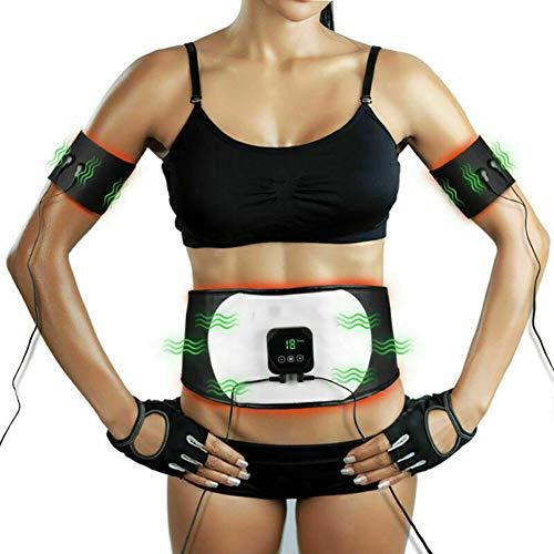 EléCtrico Muscular Entrenador, Cinturon Electroestimulador Abdominales Tonificacion, EMS Entrenamiento Muscle, Electroestimulador Abdominal Mujer Hombre, EMS Trainer Ejercitador, Estimulador Muscular