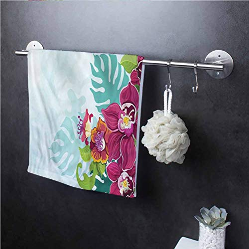 Floral Multipurpose Cleaning Cloth Cleaning Towels for Home and Kitchen Bars Tropical Flourishing Garland 8' W x 24' L