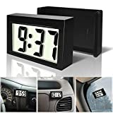 Betus Car Dashboard Digital Clock - Vehicle Adhesive Clock with Jumbo LCD Time & Day Display - Mini Automotive Stick On Watch for Car Truck Dashboard & Air Vent
