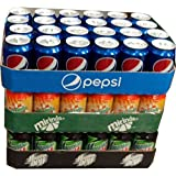 Pepsi Cola, Mirinda Orange & Mountain Dew Classic je 24 x 0,33l Dose XXL-Paket (72 Dosen gesamt)