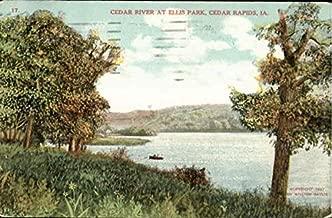 Cedar River At Ellis Park Cedar Rapids, Iowa Original Vintage Postcard