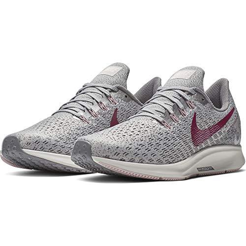 Nike Womens Air Zoom Pegasus 35 Workout Mesh Running Shoes Gray 6.5 Medium (B,M)