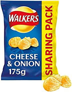 Walkers Cheese & Onion Crisps 175g