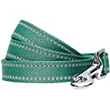 UMI. Essential, guinzaglio per Cani Catarifrangente e Resistente, 120 x 2,5 cm, Taglia L, Colore Pastello Verde Pino