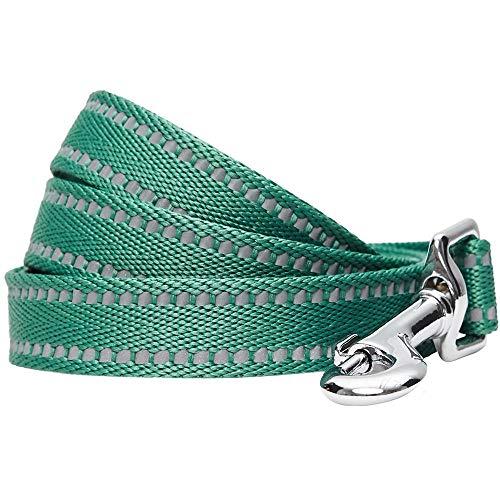 Umi. Essential, guinzaglio per Cani Catarifrangente e Resistente, 150 x 1,5 cm, Taglia S, Colore Pastello Verde Pino