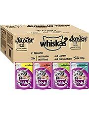 Whiskas Junior Classic or Ragout – Für Katzen von 2 - 12 Monaten – Portionsbeutel à 100g or 85g, verschiedene Sorten