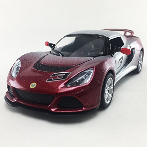 KiNSMART 2012 Lotus Exige S Two Tone Red Color 1:32 DieCast,Model,Toy,Car,Collectible, Collection, Hobby
