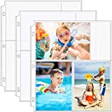 MaxGear Photo Sleeves for 3 Ring Binder -(4x6,30 Pack) for 180 Photos, Archival Photo Pages Photo Album Pages Photo Sheet Protector Refill Pages Protector 8.5 x 11, 3 Pockets Per Page Holds 6 Pictures