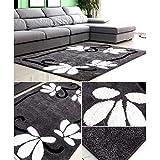 Modern Style Stylethickened Helle Seidenteppiche Salon Rutschfester Teppich Fusselfreie Schlafkammer Nachtmatten, Qi Xian, 120 * 170 cm