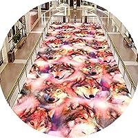 CnCnCn パーソナライズ3Dパターンカーペット廊下カーペットアイルリビングルームノンスリップ (Color : Pink, Size : 100x500cm)