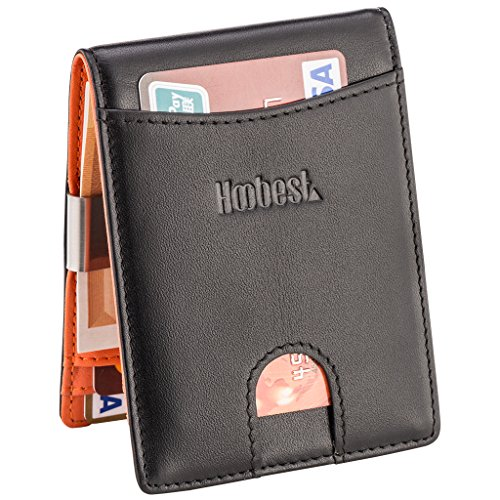 RFID SIim Wallet with Money Clip RFID Blocking Wallet | Credit Card Holder | Minimalist Mini Wallet Bifold for Men with Gift Box