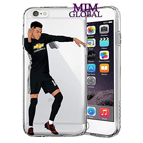 MIM Global Football Futbol Soccer Protectores Case Cover Compatible para Todos iPhone (iPhone 7 Plus/8 Plus, Milly Rock)