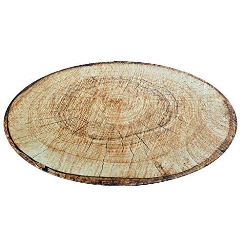 Jlxl Rond tapijt, goede kwaliteit polyester klassieke stijl eenvoudig te reinigen Home Decoratie Woonkamer 80×80cm