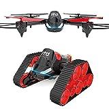 Koi Bricolaje Control Remoto de Quadcopter Anfibio terrestre y aéreo Fotografía aérea deformación Drone Retorno con un Solo botón y Auto Rebote sin Cabeza