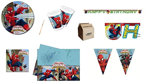 Irpot Kit N 17 Tabla DE CUMPLEAÑOS Web Spiderman Warriors