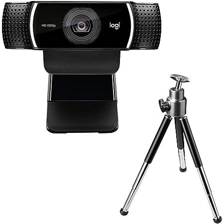ロジクール ウェブカメラ C922n ブラック フルHD 1080P ウェブカム ストリーミング 自動フォーカス ステレオマイク 撮影用三脚付属 国内正規品 2年間メーカー保証