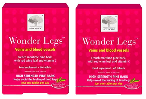 (2 Pack) New Nordic Wonder Legs 60 Tablets (120 Tablets Total)
