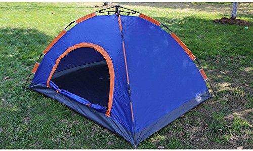 HONEYY Tente de Camping en Plein air Double Camouflage 3-4 Personnes tentes Parasol imperméable Complet Ultra-léger-hayaaki Automatique 200 * 150 * 110cm, Sect. F