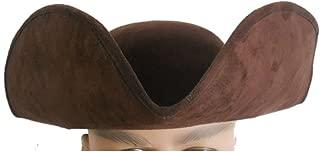 Costume Accessory Unisex Adult Faux Suede Tricorne Colonial Hat