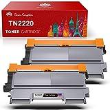 TonerKingdom TN2220 TN2010 Cartucho de Tóner Compatible en Negro, 2600 Páginas, Tóner de Repuesto para Brother HL-2130 HL-2250DN DCP-7055 DCP-7055W HL-2220 HL-2132 HL-2230 HL-2240 (Paquete de 2)