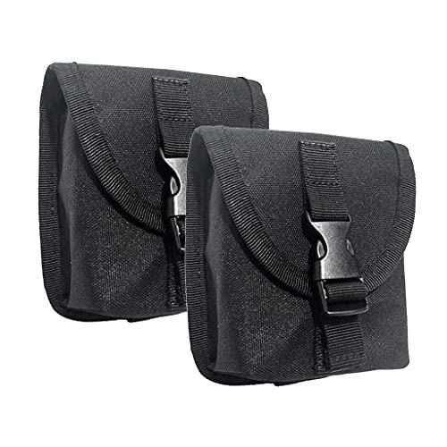 U/D 2 bolsas de bolsillo con cierre de liberación rápida, resistente y duradera
