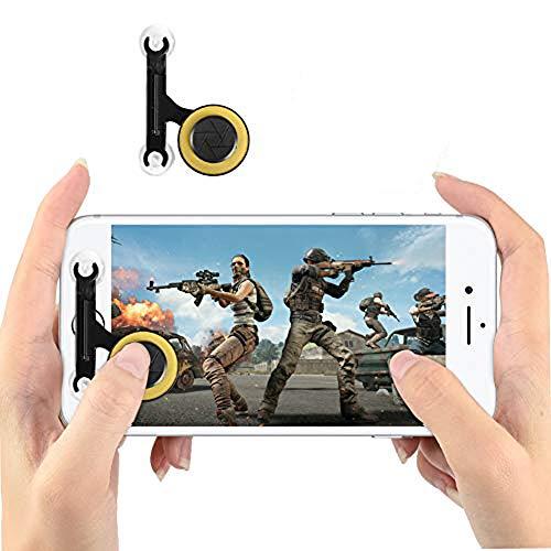 DLseego Controlador de Juegos Móvil, Joystick Gaming Controller Juego de Pantalla Táctil 360 Thumb Stick para PUBG/Rules of Survival/Knives out-Blanco