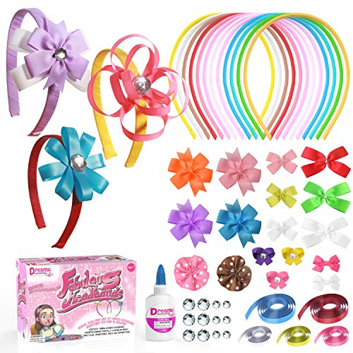 Price comparison product image DIY Headbands for Girls Kit. Perfect Crafts for Kids Ages 4-8 Full of Hair Accessories and Art Supplies for Kids 9-12 Great juguetes para niñas