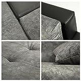 Mirjan24 Design Ecksofa Bangkok Mini, Moderne Eckcouch mit Schlaffunktion und Bettkasten, Ecksofa für Wohnzimmer, Gästezimmer, Couch L-Form, Wohnlandschaft, (Soft 017 + Bristol 2460) - 6