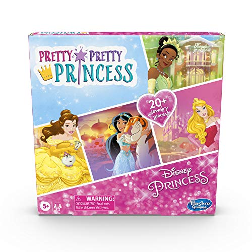 Hasbro Gaming Pretty Pretty Princess: Disney Princess Edition Board Game Featuring Disney Princesses, Jewelry Dress-Up Game for Kids Ages 5 and Up