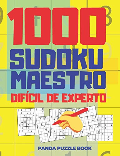 1000 Sudoku Maestro Difícil de Experto: El Libro Rompecabezas Para Adultos - Juegos De Lógica Para Adultos