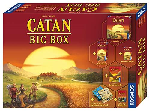 KOSMOS - CATAN Big Box 2019, Starterset mit CATAN, Das Spiel inklusive Erweiterung, Würfelspiel und 4 Szenarien, Brettspiel für 3 bis 6 Spieler ab 10 Jahre, Siedler von CATAN