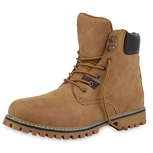 SCARPE VITA Herren Worker Boots Outdoor Schuhe Schnürstiefel 152470 Hellbraun 42