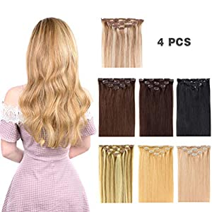 Beauty Shopping 12″ Hair Extensions Clip in Human Hair for Women Beauty