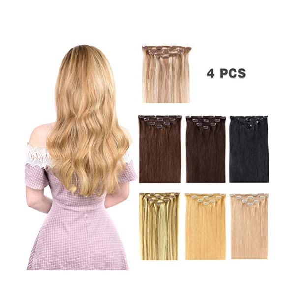 Beauty Shopping 12″ Hair Extensions Clip in Human Hair for Women Beauty – Silky Straight