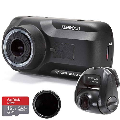 Kenwood DRV-A501W Wide Quad HD Dash Cam & KCA-R100 Rear View Camera Bundle