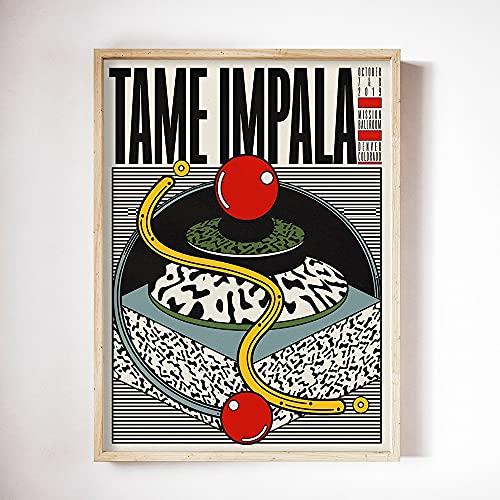 Póster de Tame Impala en color, arte musical, lienzo de seda, carteles e impresiones, lienzo sin marco familiar, pintura A 30x45cm