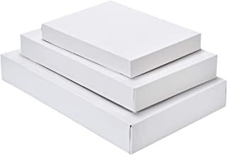 White Christmas Gift Boxes Apparel Wrapping 12 Pack Assortment Great for All Occasions; Holiday and Special Occasions, Assorted 2 Robe Gift Boxes, 6 Shirt Gift Boxes and 4 Lingerie Gift Boxes