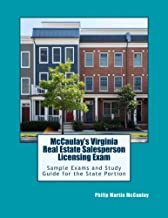 McCaulay's Virginia Real Estate Salesperson Licensing Exam Sample Exams and Study Guide for the State Portion
