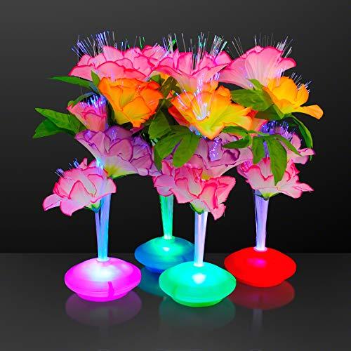 Fiber Optic LED Flower Centerpieces Light Up Centerpieces