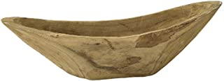 Time Concept Carving Angular Boat - Natural Wood Color, Home/Garden Accesory