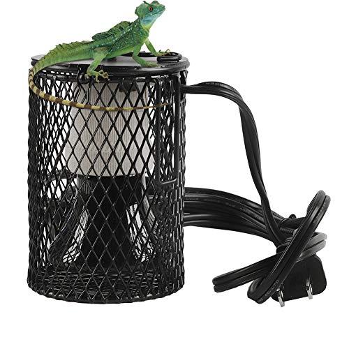 Lelukee - Bombilla de calor para reptiles, 50 W, kit de calor de cerámica, sin daño, sin luz para tortugas, serpientes, lagartos, ranas, pollitos.