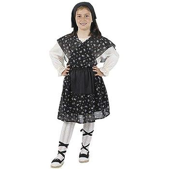 Disfraz de castañera niña. Talla 5/6 años.: Amazon.es: Ropa y ...