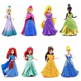 """8-PC Doll Gift Set: 3.75"""" Disney Princess, featuring Anna and Elsa from Frozen"""